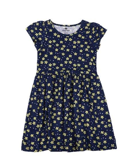 La Galleria - Floral Print Cap Sleeve Dress (7-16)