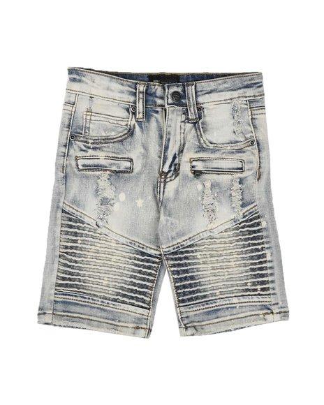 Arcade Styles - Moto Denim Shorts (2-7)