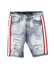 Jordan Craig - Taped Side Destructed Denim Shorts (8-18)-2622099