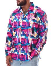Buyers Picks - Multi Color Button Down Long Sleeve Shirt (B&T)-2619759