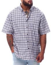 Button-downs - Plaid Brushed Woven Shirts (B&T)-2622799