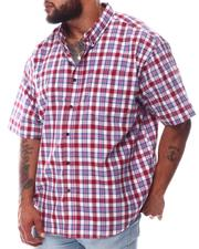 Button-downs - Plaid Brushed Woven Shirts (B&T)-2622803