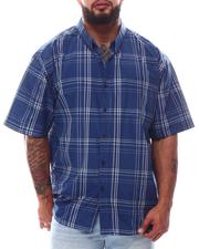 Button-downs - Plaid Brushed Woven Shirts (B&T)-2622815