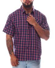 Button-downs - Plaid Short Sleeve Button Down Shirt (B&T)-2619762