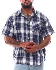 Button-downs - Plaid Short Sleeve Button Down Shirt (B&T)-2619774