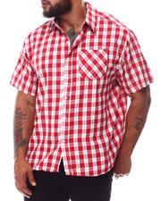Button-downs - Plaid Short Sleeve Button Down Shirt (B&T)-2619786