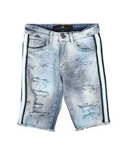 Jordan Craig - Taped Side Destructed Denim Shorts (8-18)-2622122
