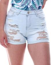 Shorts - Distressed Cuff Shorts-2617024