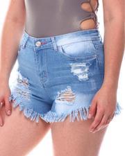 Bottoms - Distress Denim Shorts-2617055