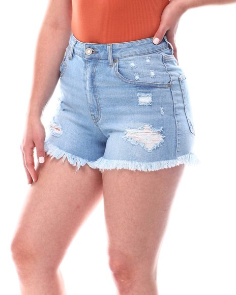 Fashion Lab - Distress Denim Shorts