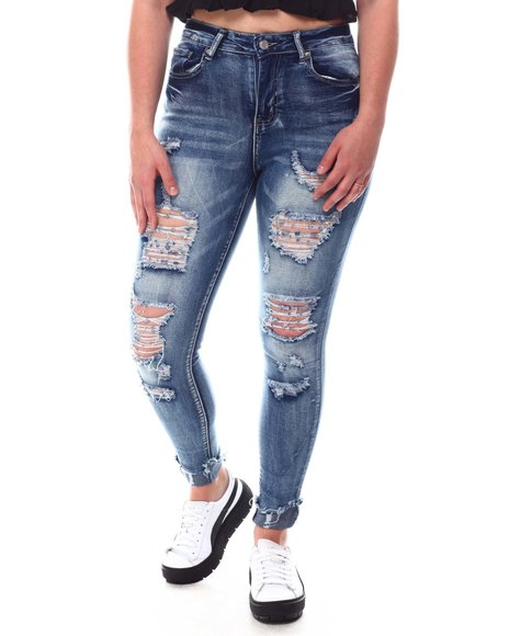 Fashion Lab - Distressed Skinny Jeans