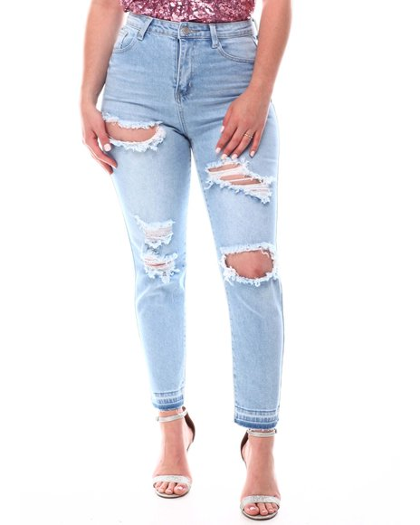 Fashion Lab - Distressed Mom Jeans