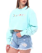 Champion - Multi Color Logo Cropped Reverse Weave Pullover-2618727