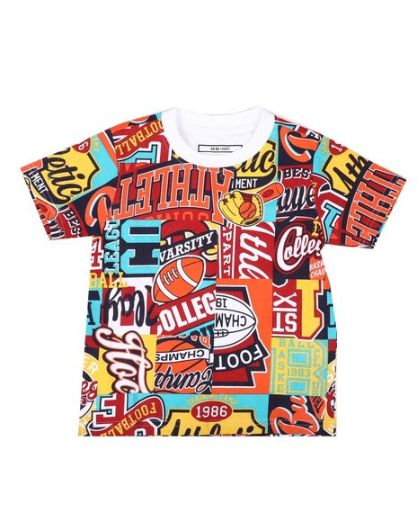 Parish - All Over Patch Graphic Print Tee (2T-4T)