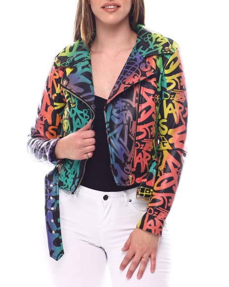 Fashion Lab - Graffiti Moto Jacket