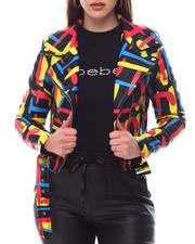 Outerwear - Multi Color Biker Jacket-2623235