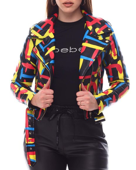 Fashion Lab - Multi Color Biker Jacket