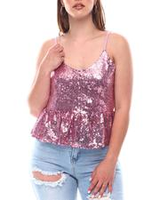 Almost Famous - Sequins Mesh Top-2623358