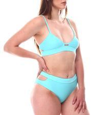Swimwear - Open Side Tie Back Bralette Top/ Open Sided Brief Bottom-2604412