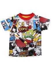 T-Shirts - Popeye Comic Print Ringer Tee (2T-4T)-2623204