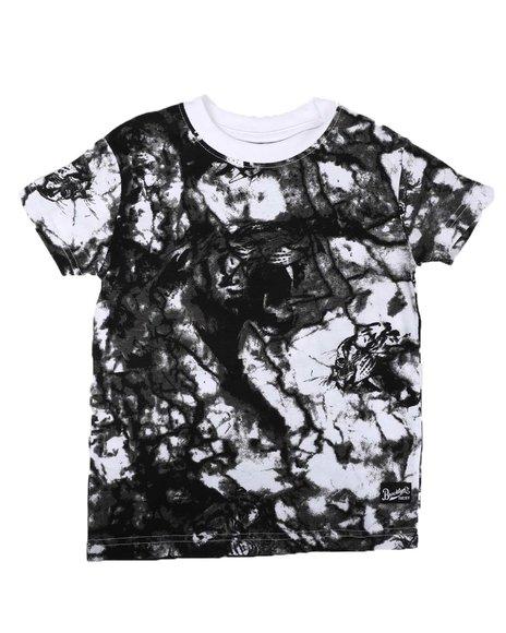 Arcade Styles - Marble Print Crew Neck T-Shirt (4-7)