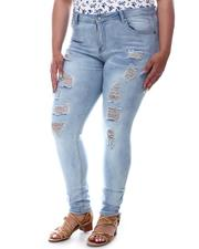 Jeans - High Rise Ripped Jeans (Plus)-2597705