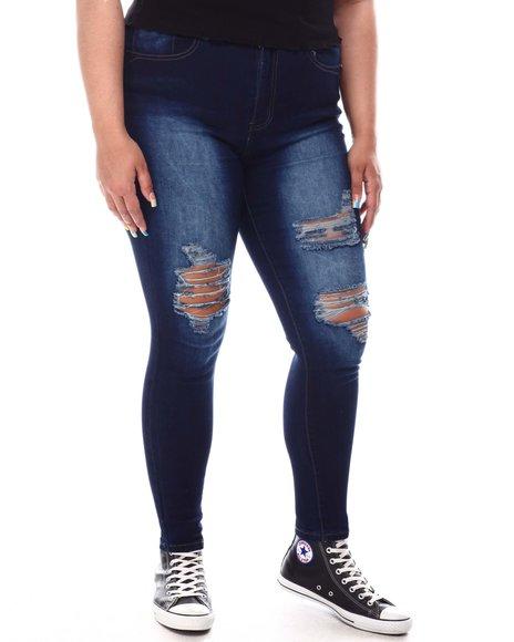 Fashion Lab - High Waist Ripped Skinny Jeans (Plus)