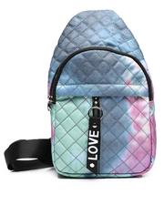 Fashion Lab - Tie Dye Quilted Cross Body Bag-2623518