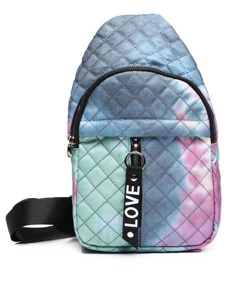 Fashion Lab - Tie Dye Quilted Cross Body Bag