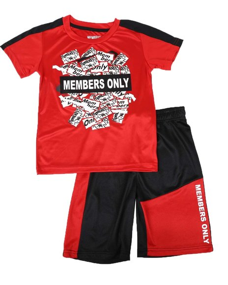 Members Only - 2 Pc Name Tag Tee & Mesh Shorts Set (8-20)