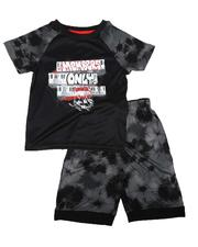Sets - 2 Pc Graffiti Tee & Shorts Set (8-20)-2621857