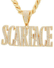 King Ice - Scarface x King Ice Scarface Logo Necklace-2624190