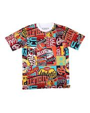 Parish - All Over Patch Graphic Print Tee (8-20)-2623161