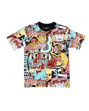 Parish - All Over Patch Graphic Print Tee (8-20)-2623179