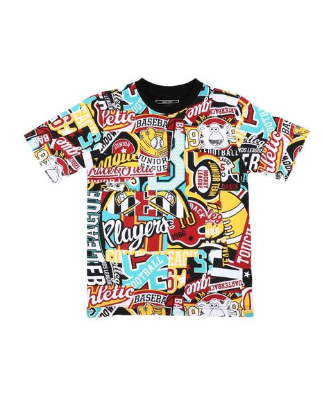Parish - All Over Patch Graphic Print Tee (8-20)