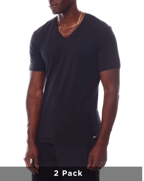 Nike - 2 Pack of Everyday Cotton V-Neck T-Shirts