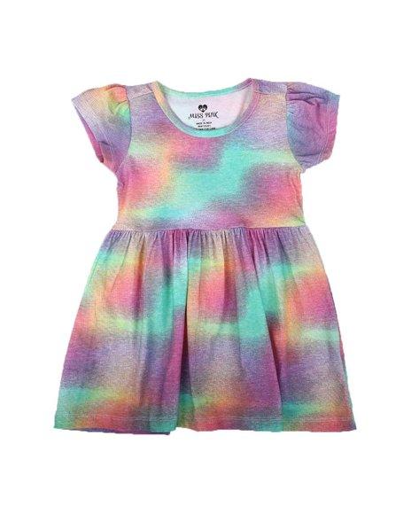 La Galleria - Tie Dye Cap Sleeve Dress (2T-4T)