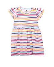 La Galleria - Striped Cap Sleeve Dress (2T-4T)-2623092