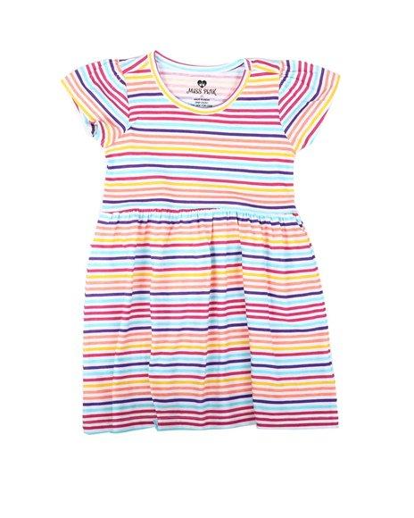 La Galleria - Striped Cap Sleeve Dress (2T-4T)