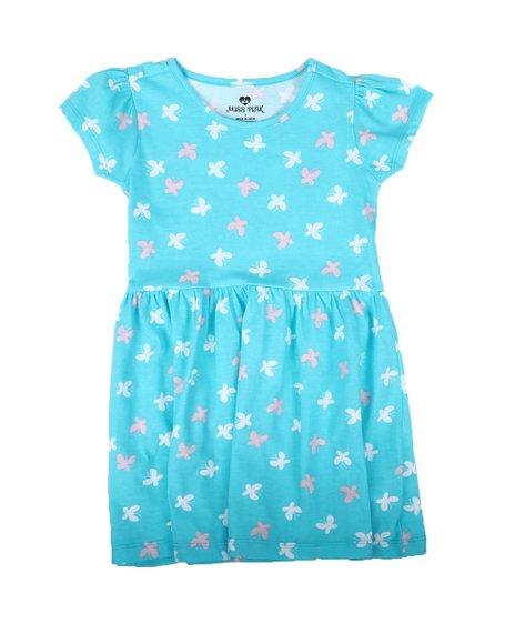 La Galleria - Butterfly Print Cap Sleeve Dress (4-6X)