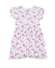 Dresses - Unicorn Print Cap Sleeve Dress (4-6X)-2623104
