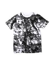 T-Shirts - Marble Print Crew Neck T-Shirt (8-20)-2623257