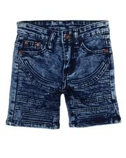 Bottoms - Washed Cut & Sew Moto Stretch Denim Shorts (2T-4T)-2607482