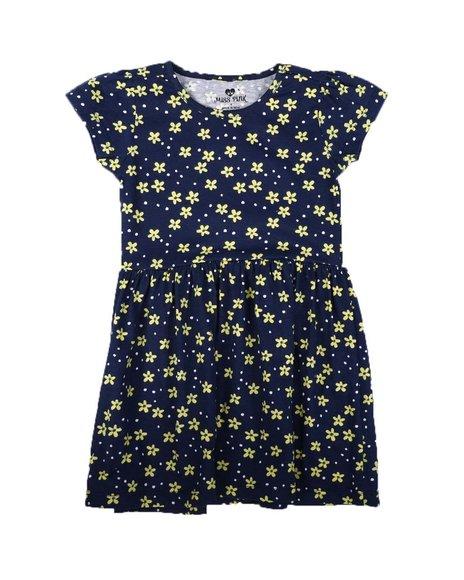La Galleria - Floral Print Cap Sleeve Dress (4-6X)