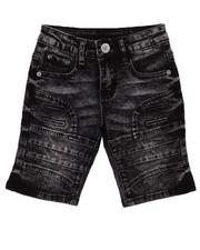 Bottoms - Stretch Embossed Denim Shorts (2T-4T)-2605563