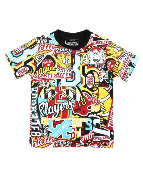 Parish - All Over Patch Graphic Print Tee (4-7)