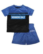 Sets -  2 Pc Members Only Color Block Tee & Shorts Set (2T-4T)-2623468