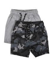 Shorts - 2Pk Twill Cargo & Camo Shorts (2T-4T)-2623472