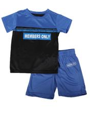 Sets -  2 Pc Members Only Color Block Tee & Shorts Set (4-7)-2623476