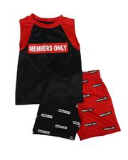 Members Only - 2 Pc Two Tone Tank & Shorts Set (2T-4T)-2623480